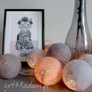 Qule Lampki Cotton Ball Lights Szare Impresje, salon, sypialnia, smyk, dom, design
