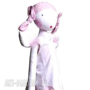 Anielski look- outfit dla lalki., lalka, anioł, skrzydła, szmacianka, anielski