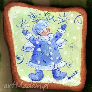zima, anioł, anioły, ceramica, 4mara, obrazek dom