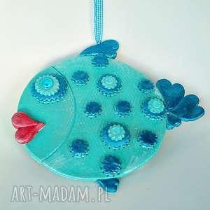 rybka mietowo-niebieska z kolekcji winter - marynistyczny zawieszka, prtezent