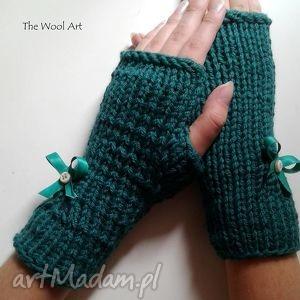 rękawiczki mitenki - dodatki, rękawiczki, mitenki, na ręce, wełniane