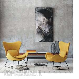 Prezent ORYGINALNY OBRAZ MALOWANY NA PŁÓTNIE TĘSKNOTA 30X60, obrazy-do-salonu
