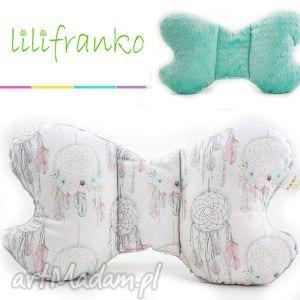 Poduszka podróżna ŁAPACZE mięta, poduszka, podróżna, motylek, niemowlęca