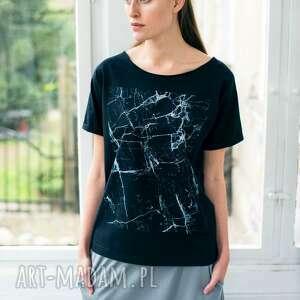 MARBLE Oversize T-shirt, oversize, tshirt, czarny, bawełna, casual, moda
