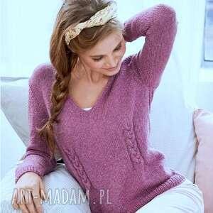 oryginalny prezent, b a l sweterek murcja, sweter, merino, kobiecy, ręcznie