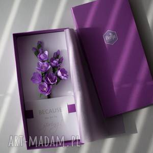 karteczki 3d, pocztówka, urodziny, kwiatky, papierowe, kartki, prezent