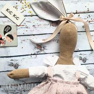 maskotki pani królik z wyszytym imieniem, przytulanka, szmaciana, prezent