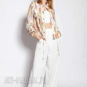 lanti urban fashion kurtka zapinana na napy, kr106 abstrakcyjne liście