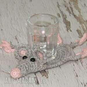 szczurek podkładka pod kieliszek, szczur, szczurek, gryzoń, prezent