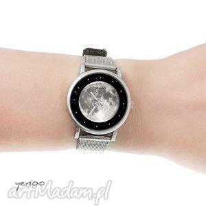 zegarek, bransoletka - księżyc mały, bransoletka, księżyc, metalowa