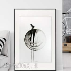 obraz ręcznie malowany 50 x 70 cm, nowoczesna abstrakcja, 2853968