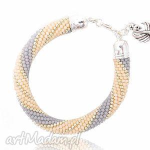 Swan, bransoletka, beading, beadwork, beadcrochet, koralikowa, swan