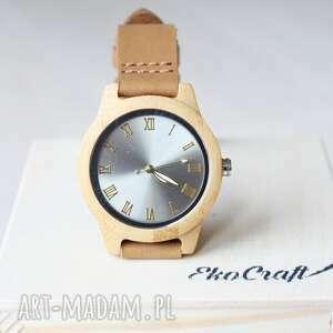 damski drewniany zegarek shiny bamboo, zegarek, błyszczący