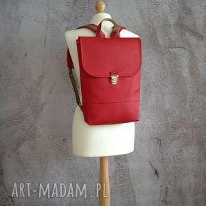skórzany plecak, elegancki damski plecak