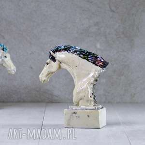 Figurka popiersie konia - Raku Chabby chic Prowansalski styl, dekoracja, figurka