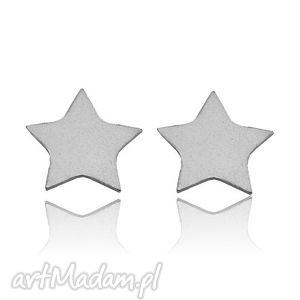 srebrne kolczyki gwiazdki - delikatne, sztyfty, modowe, srebro