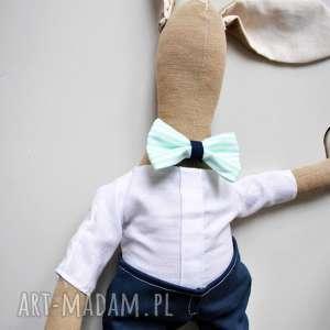 maskotki pan królik, zabawka, dziecka, niemowlaka, pamiątka, chrzest, baby