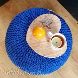 handmade zamówienie specjalne. Moniki - kobaltowa pufa