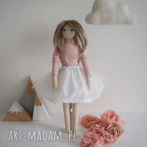 oryginalny prezent, szyje pani lalka #172, przytulanka, baletnica, naturalna