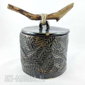 Prezent Pojemnik ceramiczny, pudełko, prezent, kuchnia, sztuka, dekoracje