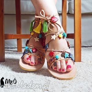 buty sandały rzymianki w stylu boho, rzymianki, sandały, greckie
