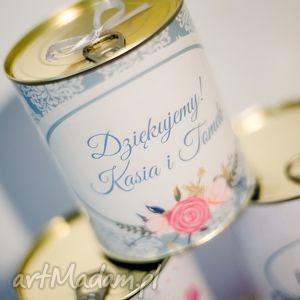 Prezent dla gości spersonalizowana puszka z sypaną herbatą, gości, prezenty