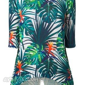 pod choinkę prezent, letni sweterek s/m,l/xl, printy, liście, palmy, bluzka