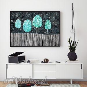drzewa a2, drzewa, plakat dom