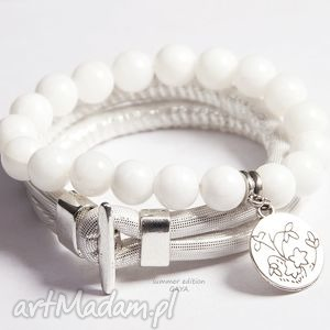hand-made white&silver