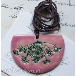 Wisior różowy koper, wisior, ceramika, koper