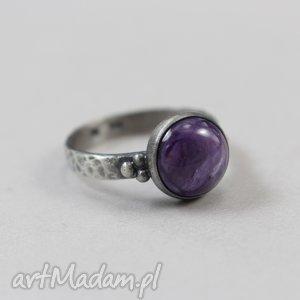 czaroit i srebro - pierścionek n 2624, czaroit, srebro, pierścionek, 18