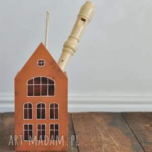 anamarko domek duży - pojemnik kredki kubek na przybory, pudełko drewniane