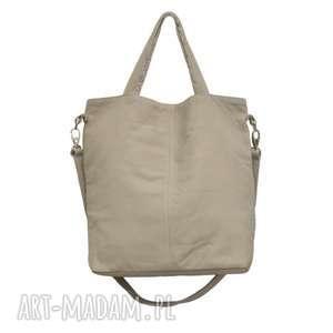 plenty more 16-0015 szara duża torebka damska z paskiem na ramię jay, duże torby