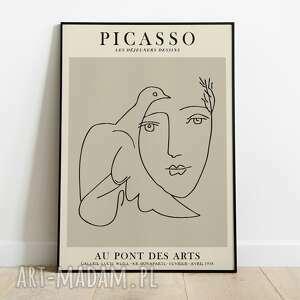 Pablo picasso, inspiracja, plakat wystawowy 50x70 plakaty pas de