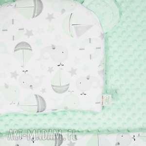 zestaw niemowlaka morze mięta, kocyk, niemowlę, poduszka, łóżeczko