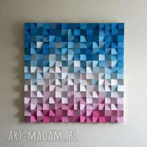 dekoracje mozaika drewniana na zamówienie, mozaika, wallart, obraz, 3d, rzeźba