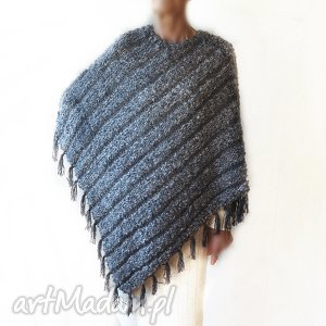 ponczo handmade, ręcznie robione, ponczo, miękkie, ciepłe