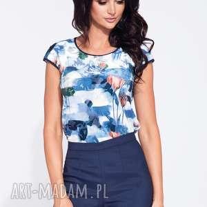 ręcznie wykonane bluzki elegancka, kolorowa bluzka w kwiaty