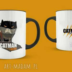 Kubek Catman my Hero, bohater, kot, cat, przyjaciel, kubek, personalizacja