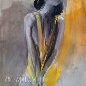 kobieta 100x70, obraz do salonu, duże obrazy, obraz, w sztuce