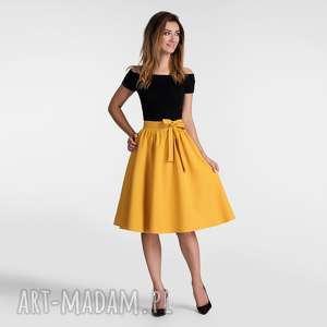 hand-made spódnice spódnica iza midi miodowy