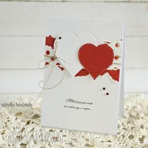 Walentynka z sercami - ,walentynka,kartka,walentynkowa,walentynki,prezent,