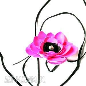 naszyjnik boho kwiaty etno handmade, kwiaty, etno, maki, kolorowe, folk, ludowe
