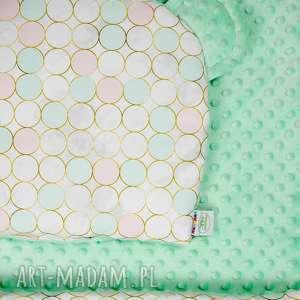 lilifranko zestaw niemowlaka kółka mięta, kocyk, niemowlę, poduszka, łóżeczko