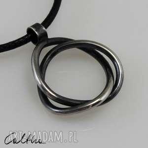 Zaplątany - srebrny wisiorek, wisior, naszyjnik, srebro, srebrny, biżuteria