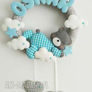 hand-made pokoik dziecka personalizowana dekoracja z imieniem śpioszek