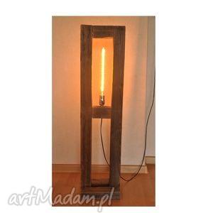 lampa stare drewno, loft, retro, edison, lampa, drewniana, edison