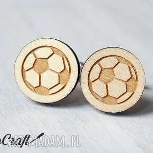 drewniane spinki piŁka noŻna - spinki, mankietów, piłka, prezent