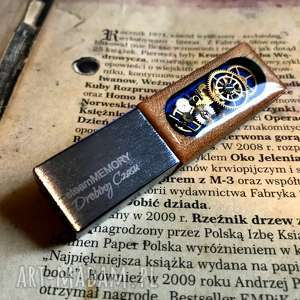 Steammemory of wood blue - pendrive led drobinyczasu usb