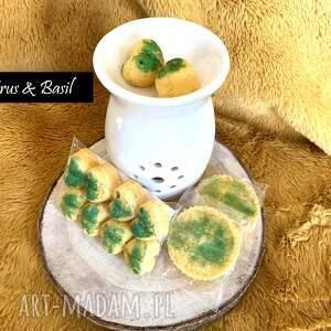 luxury candles cytrusy i bazylia - wosk sojowy zapachowy do kominka serduszka